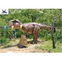 Wholesale Eyes Blink Dinosaur Lawn Ornament , Life Size Animal Statues For Amusement Park from china suppliers