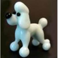 Buy cheap White Glass Dog For Children Gifts , Handmade Glass Animals Figurines from wholesalers