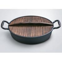 Buy cheap Amazon hot sale Cast iron pizza pan cookware set with preseasoned coating from wholesalers