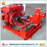 Deep suction electric self priming pump trailer