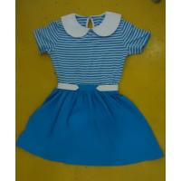 Wholesale Blue Striped Children'S Cotton Pajamas Matching Brother Sister Clothes from china suppliers