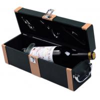 Wholesale PU / PVC Custom Gift Boxes Leather Wine Anniversary Gift Carring Box from china suppliers
