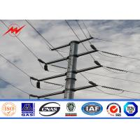 Buy cheap S500MC Galvanized Power Pole Transmission Line Contractor 110 Kv from wholesalers