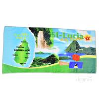 China Plain Style Custom Printed Beach Towels For Gifts / Sports 350gsm on sale