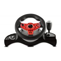Buy cheap Wired Connection Video Game Steering Wheel for P4 Big Size Shape With Vibration from wholesalers