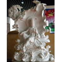 Wholesale White Marble Sitting Guanyin Buddha Stone Statue from china suppliers
