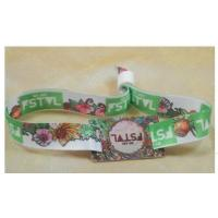 Buy cheap Factory Promotional Polyester Custom Festival Event Woven Fabric Wristband from wholesalers