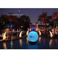 Buy cheap Colorful Floating Inflatable Lighting Decoration , LED 144W RGB Light Decoration Ball from wholesalers