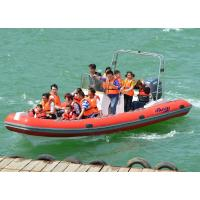 Buy cheap Heavy Duty Inflatable RIB Boats Inflatable River Boats For Kids / Adults from wholesalers