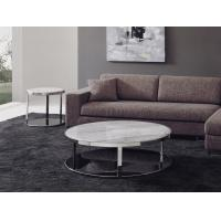 Buy cheap White Round Marble Coffee Tables , Living Room Coffee Table Set , Luxury stone coffee tables from wholesalers