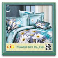 Buy cheap Beautiful Shrink Water Cotton 3D Bed Sheet Set For School / Household from wholesalers