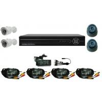 Buy cheap Home Camera Security 4CH DVR and 700TVL Plastic IR Dome + Metal Bullet Cameras from wholesalers