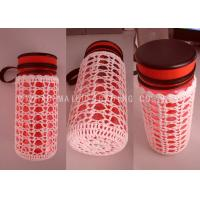 Buy cheap White Crochet Bottle Holder Hollow Out Scallop Edge Knitted Mug Warmer from wholesalers