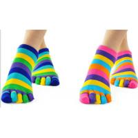 China ankle five toes socks with grip on sale