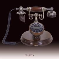 Buy cheap Office decoration caller id antique telephone made of wood from wholesalers