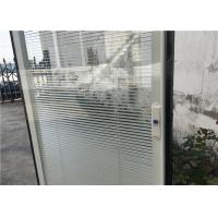 Buy cheap Horizontal Pattern Blinds Between Glass , Aluminium Blinds For Door Window from wholesalers