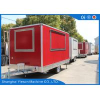 Buy cheap Gas Pizza Oven Equipped Mobile Food Kitchen Trailer Sandwich Panel from wholesalers