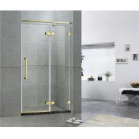 Buy cheap Golden Bronze Inline Frameless Corner Shower Doors 10mm Tempered Glass CE / SGCC from wholesalers