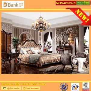 (BK0109-0008)BISINI Brand New Bedroom Furniture, Antique Royal Luxury Bedroom Furniture Set, King Size Bed Nightstand Manufactures