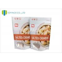 Gravure Printing Plastic Stand Up Pouches , Salted Cashews Plastic Food Pouches Matte Surface Manufactures