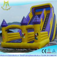 Hansel top selling china outdoor use inflatable bouncer slide soft play equipment Manufactures