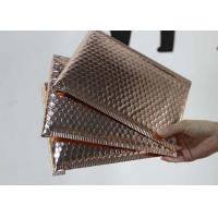 Buy cheap 6 * 10 Metallic Bubble Envelopes Shiny / Matt Surface With Rose Gold Color from wholesalers
