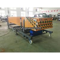 Buy cheap Mobile Telescopic Belt Conveyor with Hydraulic Lift from wholesalers