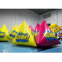 Buy cheap 2.5m Inflatable Water Floating Marker buoys With Logo Yellow / Pink from wholesalers