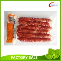 Flat Heat Seal Bottom Open Clear Vacuum Packaging Pouch For Sausages / Fruits Manufactures