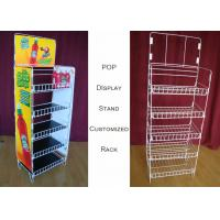 Buy cheap Customize Size Wire Shelf Display Rack  / Graphic Side POP Wire Display Stand from wholesalers