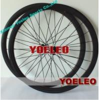 Buy cheap 700C Carbon Wheels Clincher 38MM Black Spokes Black Hubs 3K Glossy from wholesalers