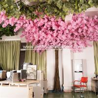 Wholesale Eco Friendly Pink Artificial Cherry Blossom Tree Sakura Flower House Office Decoration from china suppliers