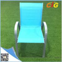 Low price stackable sling chair popular colorful reclining beach garden chair,comfortable indoor outdoor leisure lounger Manufactures