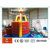 Buy cheap Giant pirate ship Inflatable Dry Slides for kids , bouncy house with water slide from wholesalers
