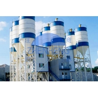 Wholesale Stable 2000l Belt Type HZS120 Concrete Batching Plant 4100mm Discharge Height from china suppliers
