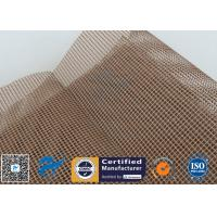 Buy cheap PTFE Coated Fiberglass Conveyor Belt Fabric 4x4MM Doule Weft Brown Open Mesh from wholesalers