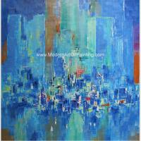 Buy cheap Abstract Cityscape Painting On Canvas , Framed Oil Paintings For Modern House Decorative from wholesalers