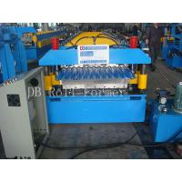 Corrugated Steel Panel Roll Forming Machine Driven by Chain in Hydraulic System Manufactures