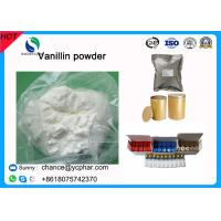 Buy cheap Netrual Extract Pharmaceutical Intermediate Vanillin Powder CAS 121-33-5 For Food Additive Flavors from wholesalers