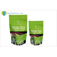 Matcha Tea Packaging Bags MOPP / PET / PE Stand Up Pouches With Zipper Manufactures