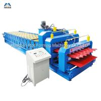 Buy cheap Electrical 4 + 4 kw Double Layer Roll Forming Machine Wholesale from wholesalers
