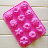 China silicone muffin cake molds , flower shape silicone tray  mold ,custom  silicone  mold on sale