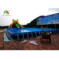 Buy cheap Customized Yellow Elephant Inflatable Water Parks With Slide / Pool / CE Air Pump from wholesalers