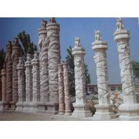 Wholesale White Marble Dragon Pillar/Roman column from china suppliers