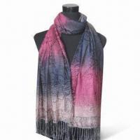 Wholesale Polyester Scarf, Available in Various Colors, Measures 178 x 68 + 10 x 2cm from china suppliers