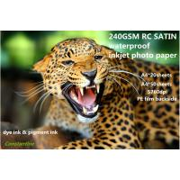 Buy cheap 240gsm waterproof RC satin inkjet photo paper from wholesalers