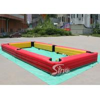 Buy cheap 10x5 Mts Giant Inflatable Human Billiards Bounce House With Snooker Balls For Snooker Football Entertainment from wholesalers