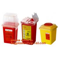 Buy cheap sharpsguard yellow lid 1 ltr sharps, sharps disposal container 1quart wall mounted medical for hospital and clinic from wholesalers
