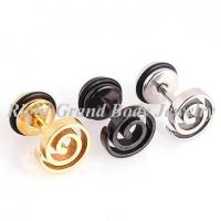 China O-Rings Fake Plug Earrings / Party Laser Cut Steel Fake Tunnels on sale