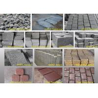 Buy cheap Outdoor Garden Natural Paving Stones Basalt Cobble Stone Raw Material from wholesalers